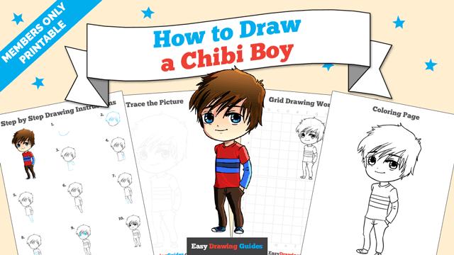 download a printable PDF of Chibi Boy drawing tutorial