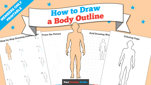 download a printable PDF of Body Outline drawing tutorial
