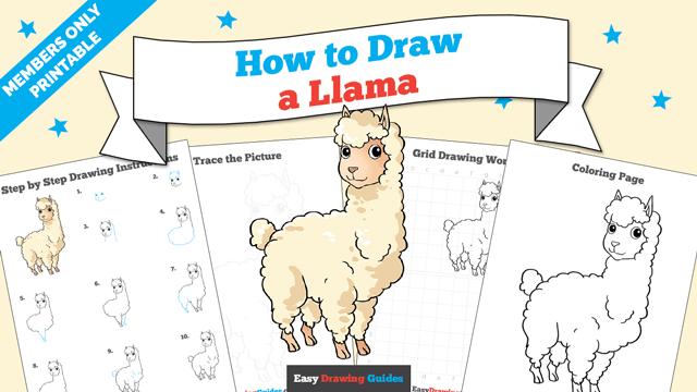 Printables thumbnail: How to draw a Llama