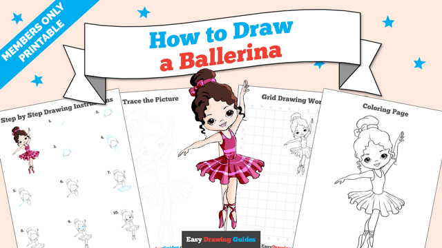 download a printable PDF of Ballerina drawing tutorial