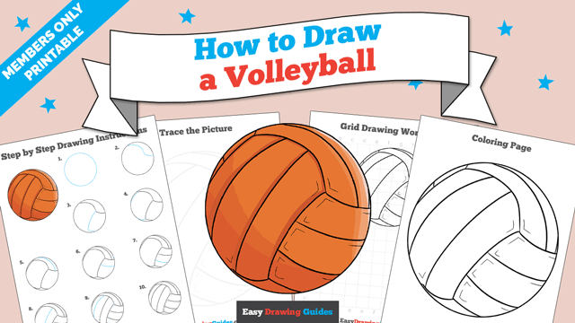 Printables thumbnail: How to draw a Volleyball