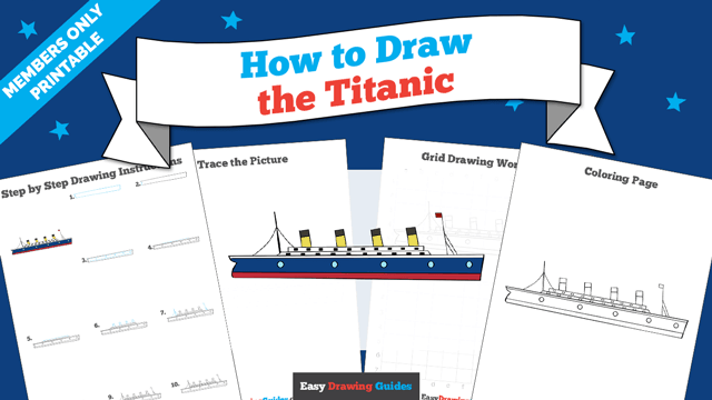 download a printable PDF of Titanic drawing tutorial