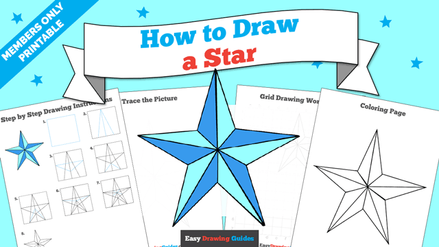 download a printable PDF of Star drawing tutorial