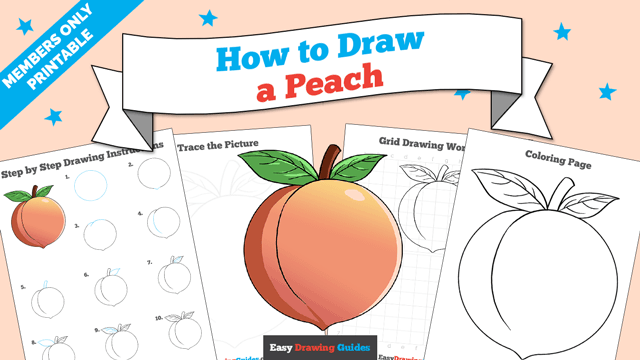 download a printable PDF of Peach drawing tutorial