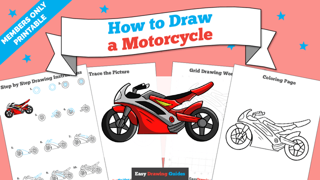 download a printable PDF of Motorcycle drawing tutorial