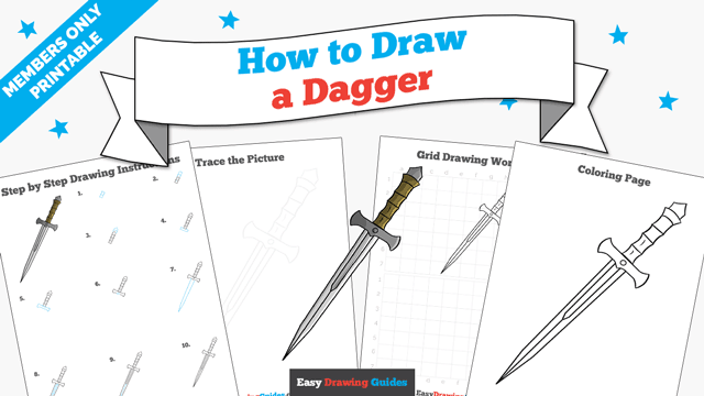 download a printable PDF of Dagger drawing tutorial