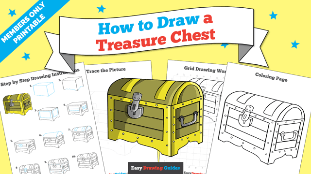 download a printable PDF of Treasure Chest drawing tutorial