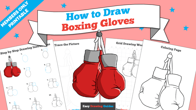 download a printable PDF of Boxing Gloves drawing tutorial