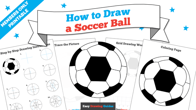download a printable PDF of Soccer Ball drawing tutorial