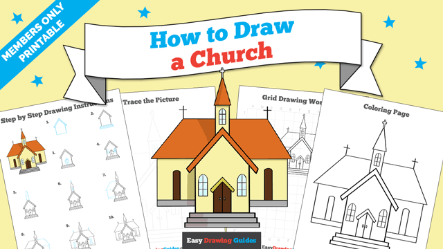 download a printable PDF of Church drawing tutorial