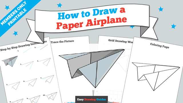 Printables thumbnail: How to draw a Paper Airplane
