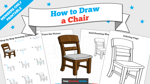 download a printable PDF of Chair drawing tutorial