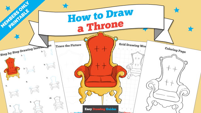 download a printable PDF of Throne drawing tutorial