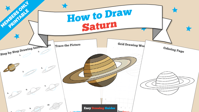 download a printable PDF of Saturn drawing tutorial