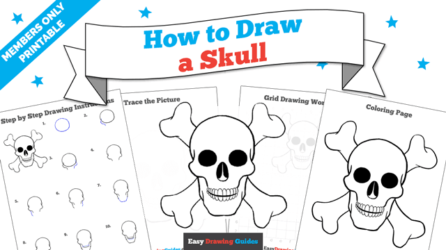 Printables thumbnail: How to draw a Skull