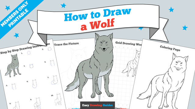 download a printable PDF of Wolf drawing tutorial