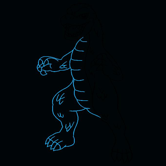 How to Draw Godzilla: Step 7