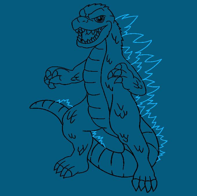 How to Draw Godzilla: Step 9