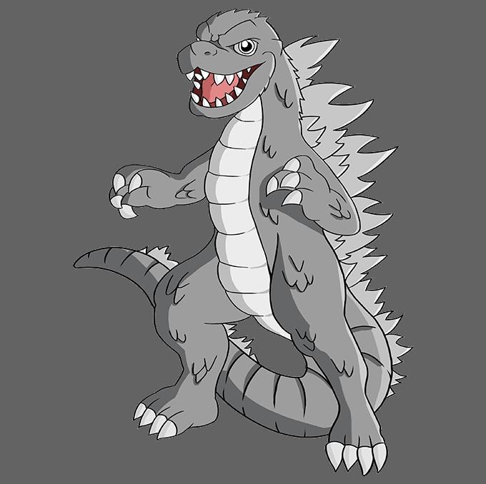 How to Draw Godzilla: Step 10