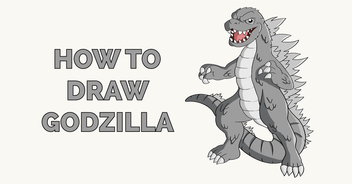 How to Draw Godzilla Featured Image