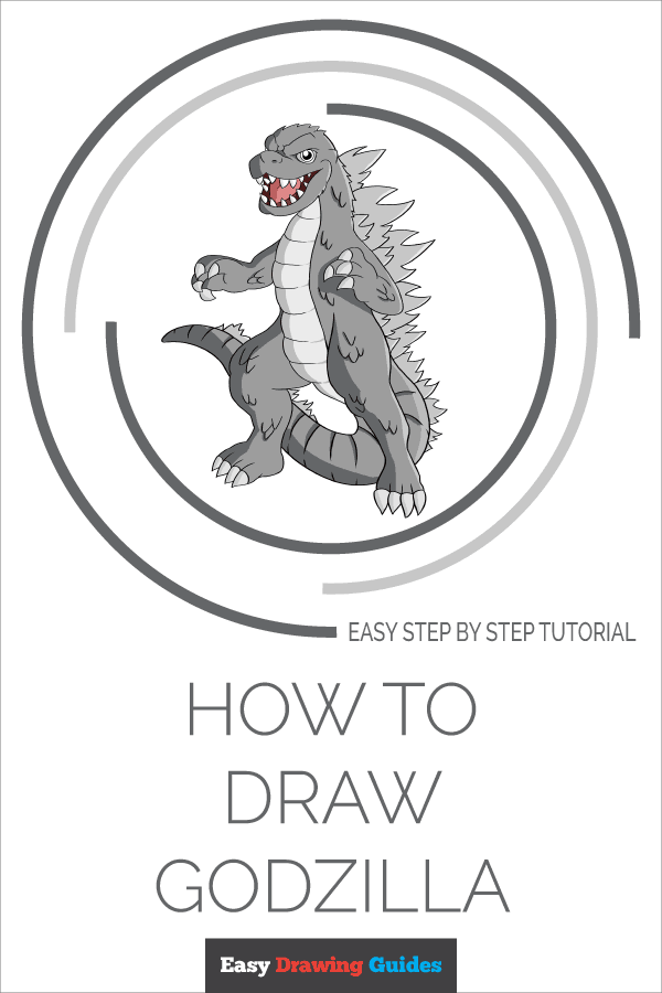 How to Draw Godzilla | Share to Pinterest