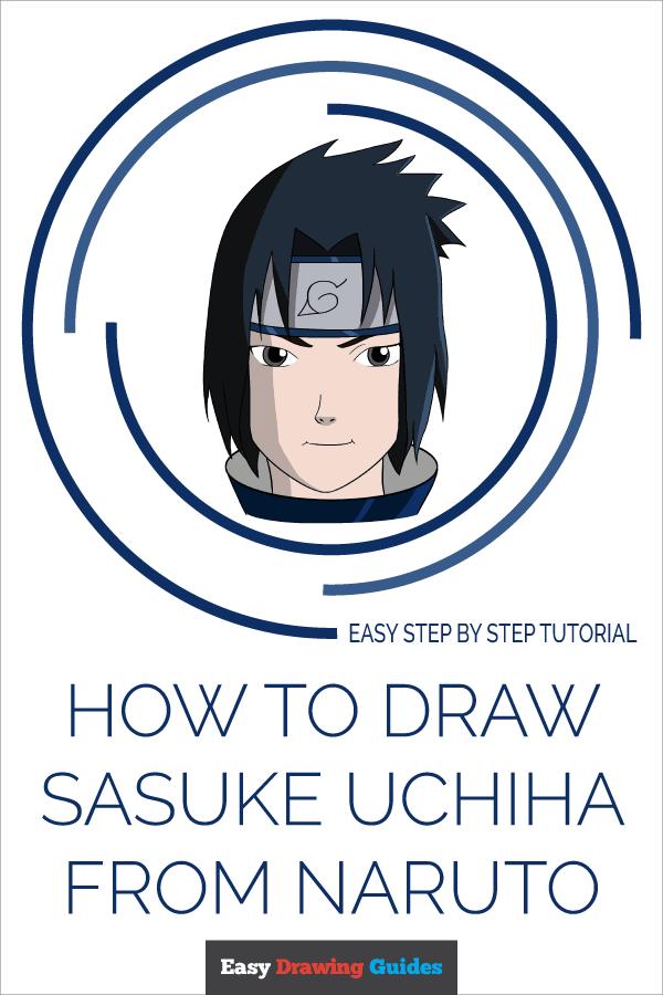 How to Draw Sasuke Uchiha from Naruto | Share to Pinterest