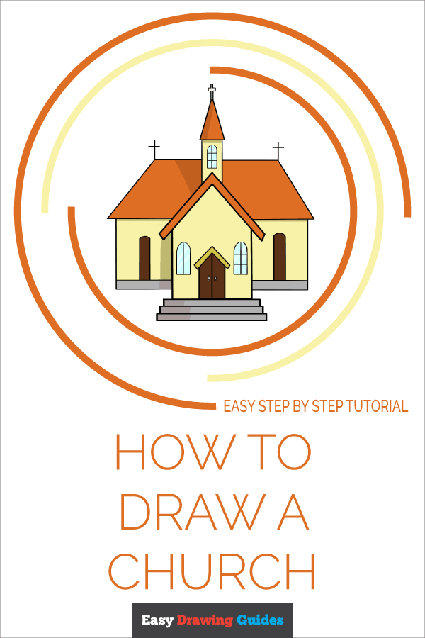How To Draw A Church Really Easy Drawing Tutorial