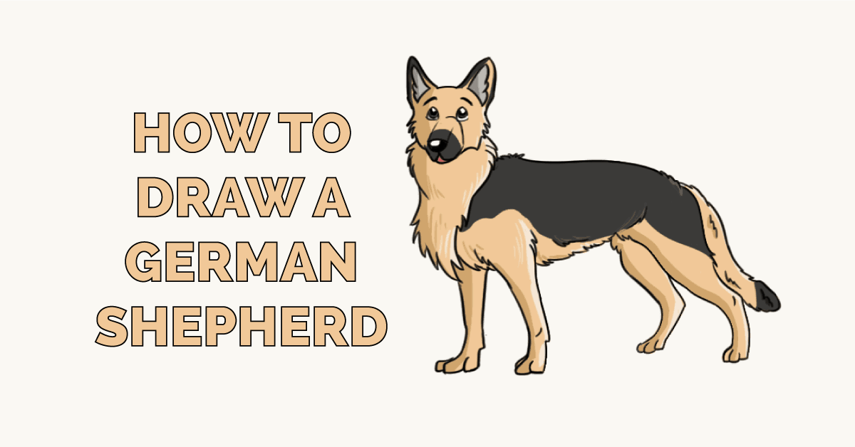 How To Draw A German Shepherd Really Easy Drawing Tutorial