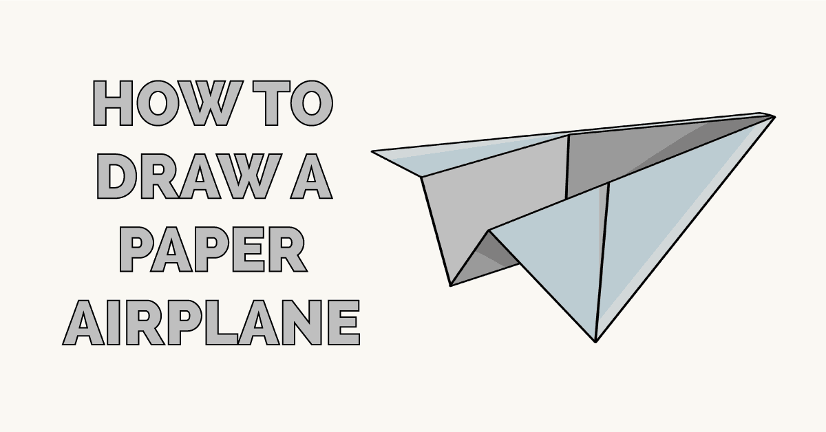 How To Draw A Paper Airplane Really Easy Drawing Tutorial