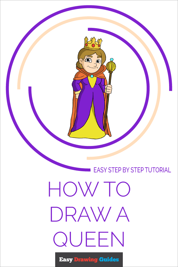 How to Draw Queen | Share to Pinterest