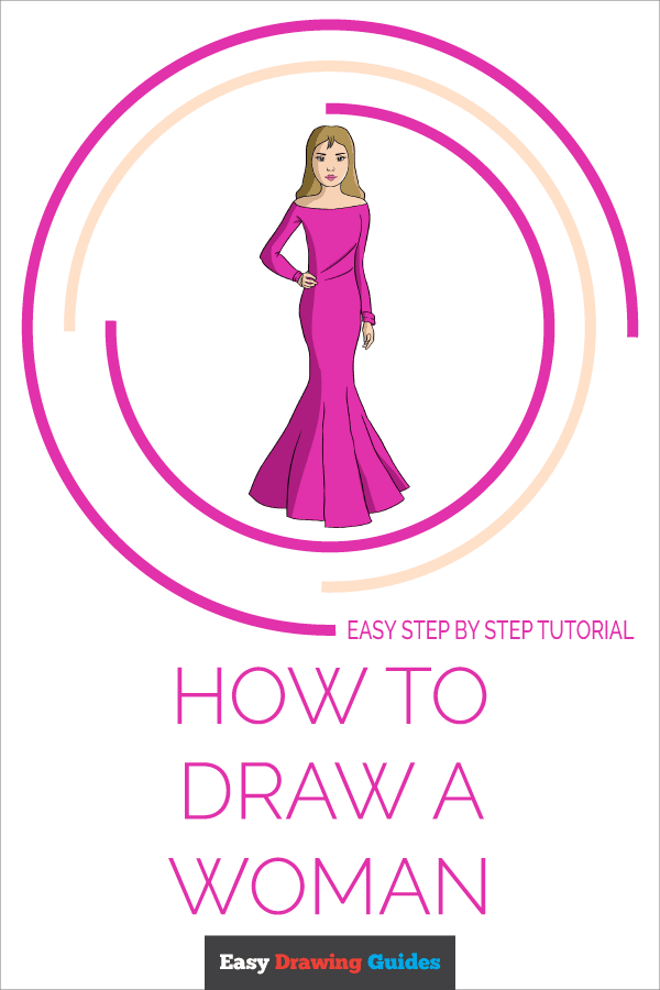 How To Draw A Woman Really Easy Drawing Tutorial,Beach Interior Design Style
