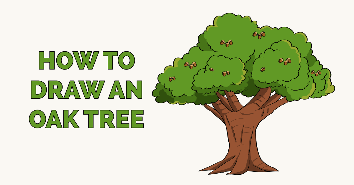 How to Draw an Oak Tree Featured Image