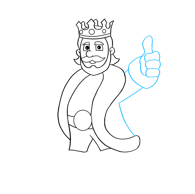 How to Draw King: Step 7