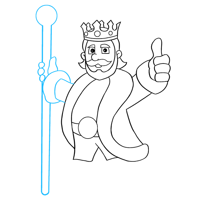 How to Draw King: Step 8