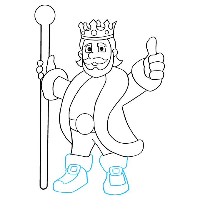 How to Draw King: Step 9