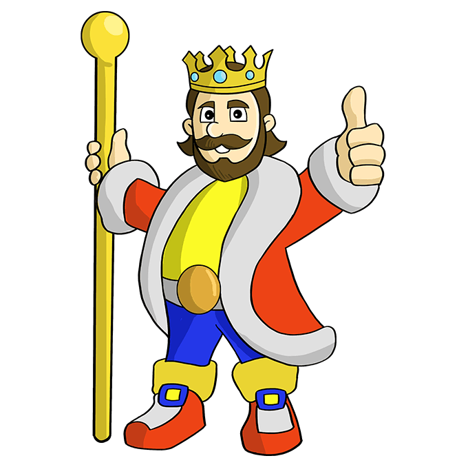 How to Draw King: Step 10