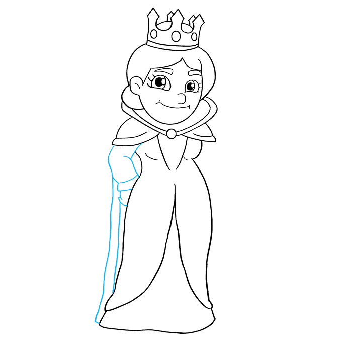 How to Draw Queen: Step 7