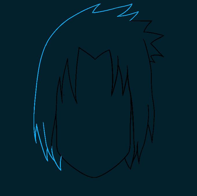 How to Draw Sasuke Uchiha from Naruto: Step 5