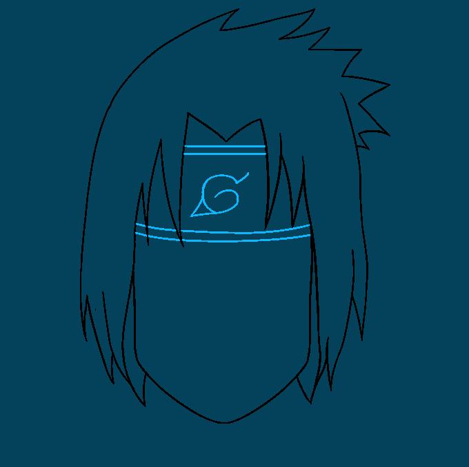 How to Draw Sasuke Uchiha from Naruto: Step 6