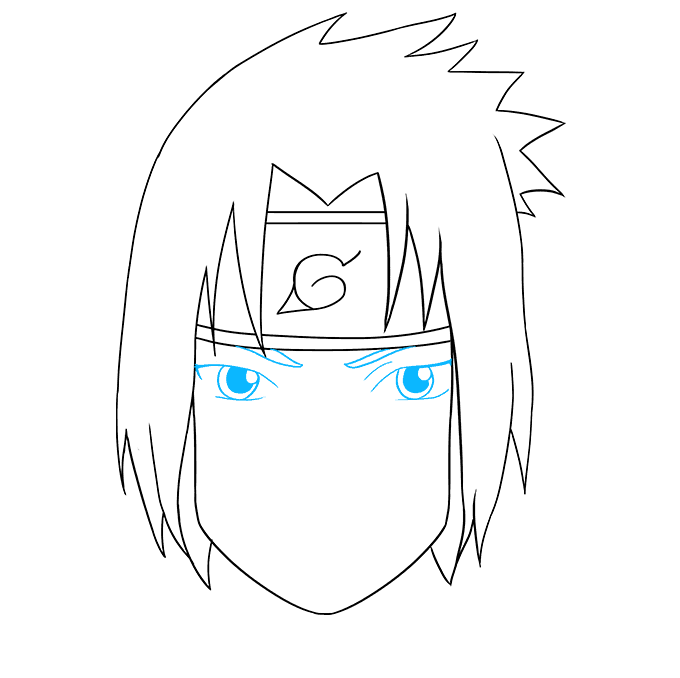 How to Draw Sasuke Uchiha from Naruto: Step 7