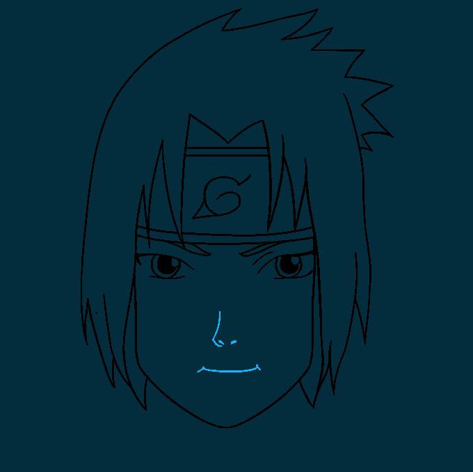 How to Draw Sasuke Uchiha from Naruto: Step 8