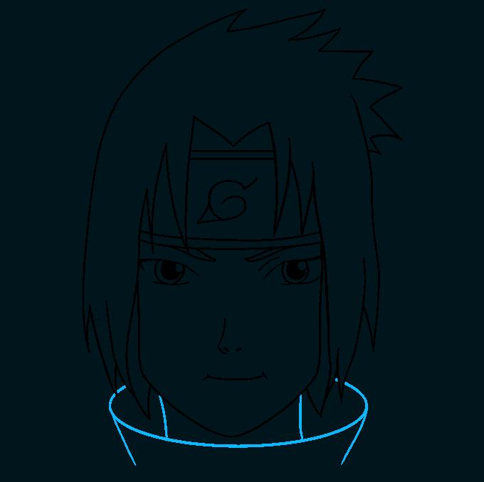 How to Draw Sasuke Uchiha from Naruto: Step 9
