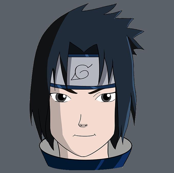 How to Draw Sasuke Uchiha from Naruto: Step 10