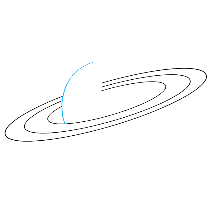 How to Draw Saturn: Step 4