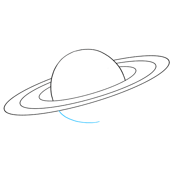 How to Draw Saturn: Step 6