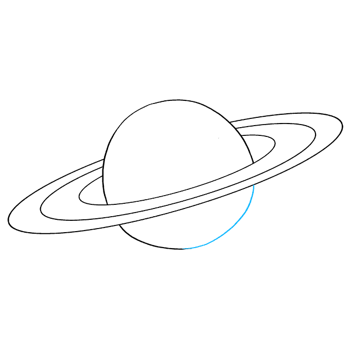 How to Draw Saturn: Step 7