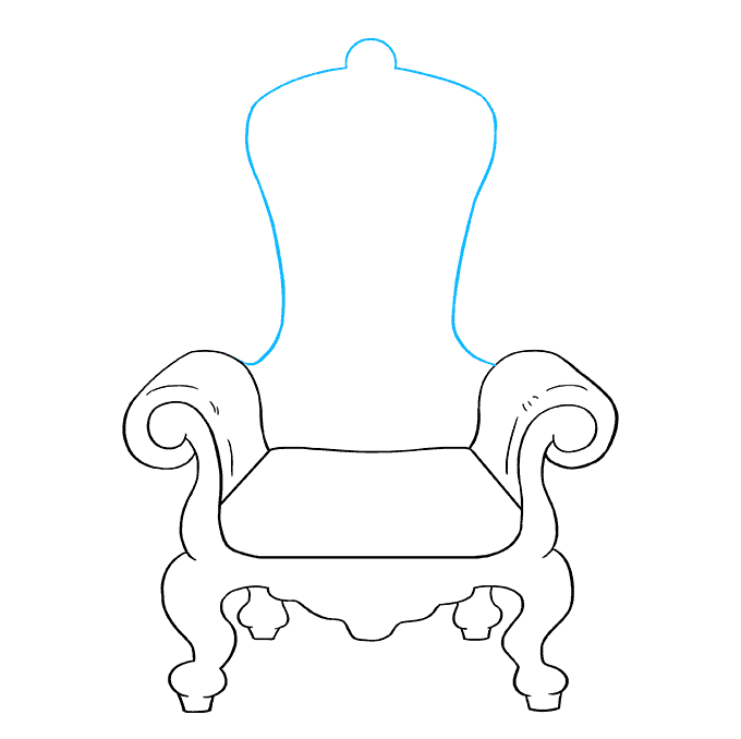 How to Draw Throne: Step 7