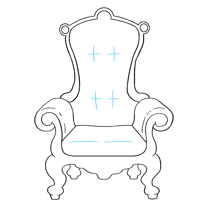How to Draw Throne: Step 9