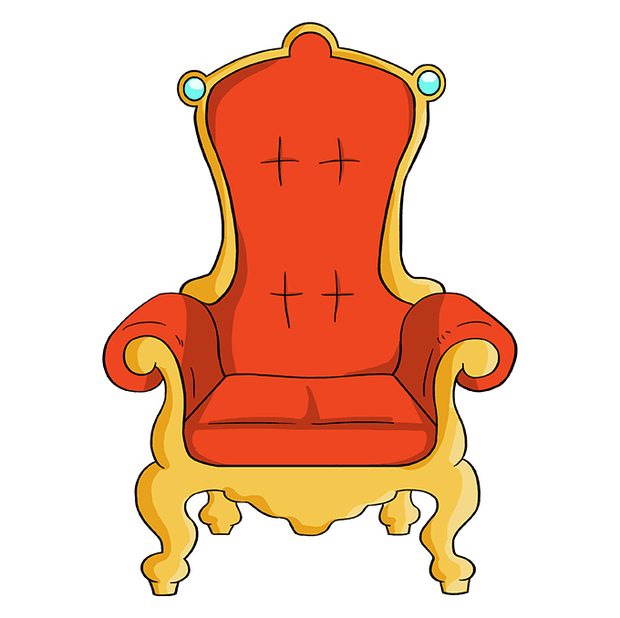 How to Draw Throne: Step 10
