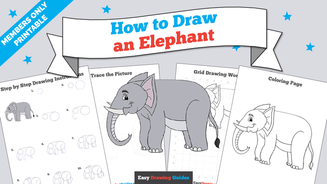 download a printable PDF of Elephant drawing tutorial
